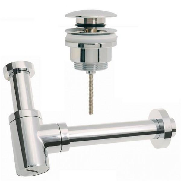 Design Siphon Sifon+1 Ablaufventil PushUp für Waschtisch mit und ohne Überlauf (Universalablauf)
