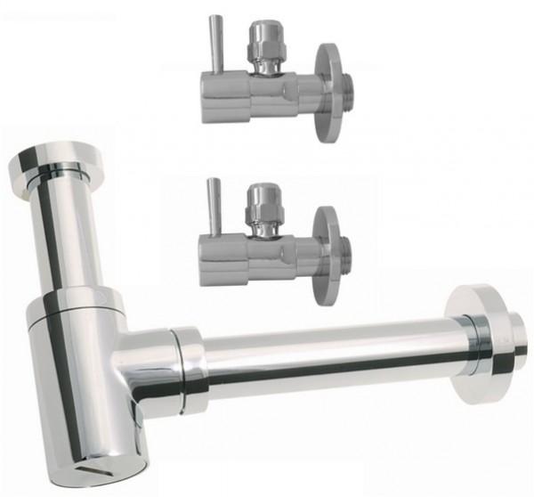 Design Siphon Sifon +2 Eckventil für Waschtisch & Bidet