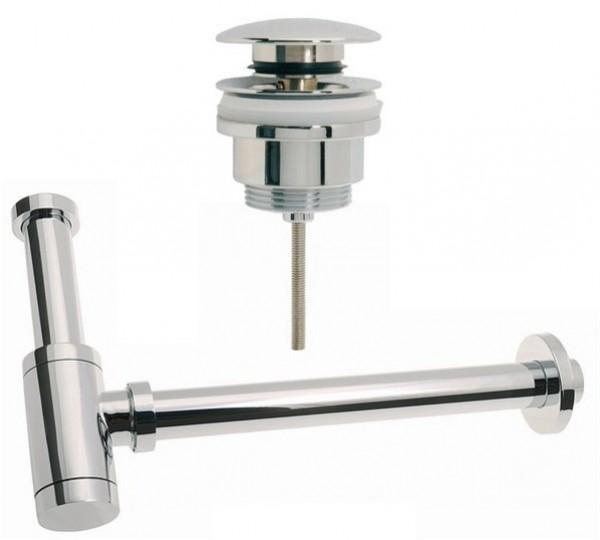 Design Siphon Sifon 180x350mm + 1 Ablaufventil PushUp Universalventil