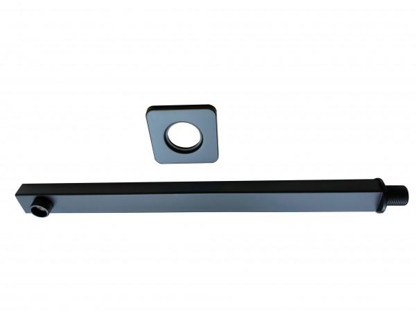 Wandarm für Duschkopf Farbe schwarz, Länge 40 cm, Breite 3 cm, Höhe 2 cm, Edelstahl 304
