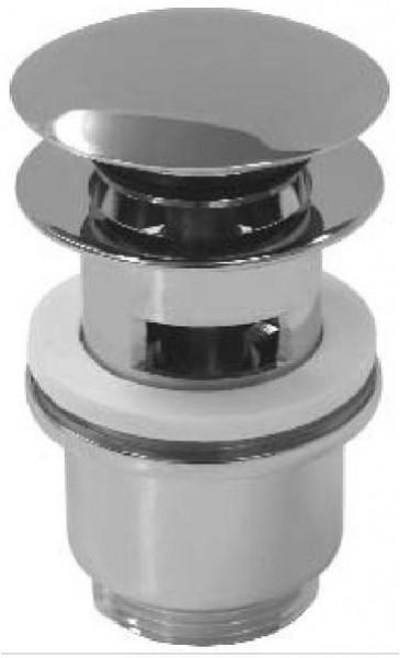 Design Ablaufventil, Ablaufgarnitur Push-Up m. Überlauf massiv Messing verchromt Nr. 6091 = Nr. 2030