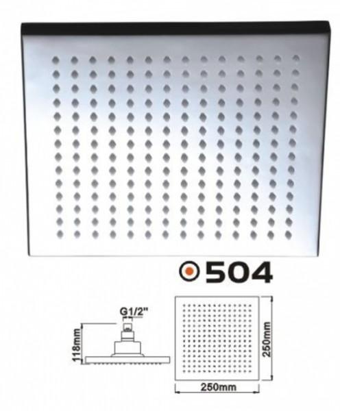 Brausedusche Duschbrause Regendusche Eckig XL 250 mm massives Messing verchromt