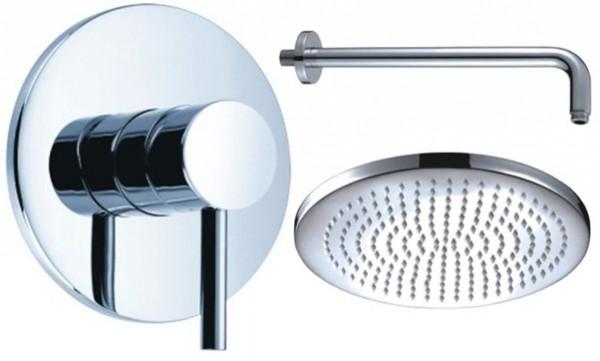Dusch-Set 11 rund Messing: 300 mm Regendusche Kopfbrause Duschkopf Unterputz Set