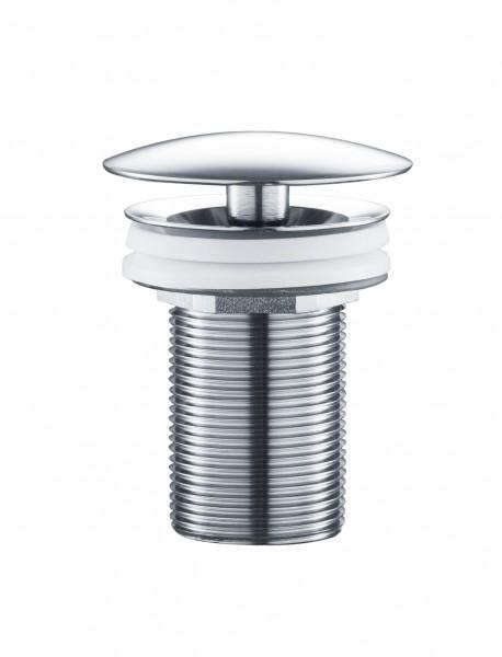 Ablaufventil 6101 - Abflussventil aus massivem Messing verchromt poliert, Abflussgarnitur Ablaufgarnitur Fachhändler-Qualität Abflussstopfen