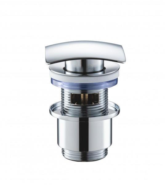 Ablaufventil 2210 - Abflussventil aus massivem Messing verchromt poliert, Abflussgarnitur Ablaufgarnitur Fachhändler-Qualität Abflussstopfen