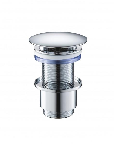 Ablaufventil 6107 - Abflussventil aus massivem Messing verchromt poliert, Abflussgarnitur Ablaufgarnitur Fachhändler-Qualität Abflussstopfen
